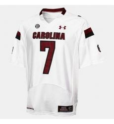 Men South Carolina Gamecocks Jadeveon Clowney College Football White Jersey