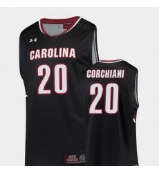Men South Carolina Gamecocks Tommy Corchiani Black Replica College Basketball Jersey