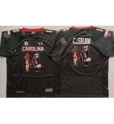 South Carolina Gamecocks 14 C Shaw Black Portrait Number College Jersey