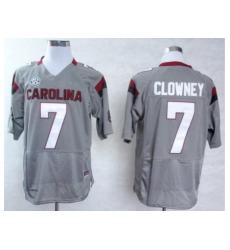 South Carolina Gamecocks 7 Jadeveon Clowney Grey College Football NCAA Jersey