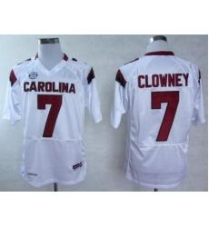 South Carolina Gamecocks 7 Jadeveon Clowney White College Football NCAA Jersey