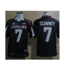 Under Armour South Carolina Javedeon Clowney #7 New SEC Patch NCAA Football - Black