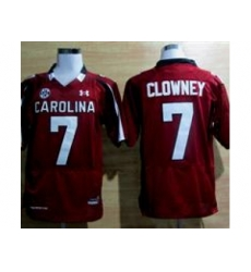Under Armour South Carolina Javedeon Clowney #7 New SEC Patch NCAA Football - Maroon