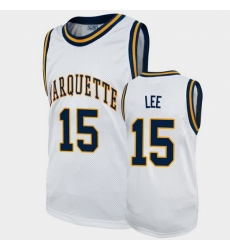Men Marquette Golden Eagles Butch Lee Alumni White College Basketball Jersey