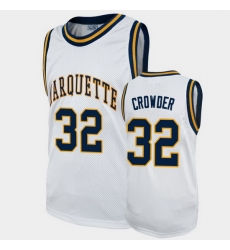 Men Marquette Golden Eagles Jae Crowder Alumni White College Basketball Jersey