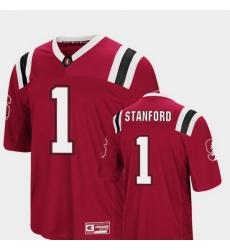 Men Stanford Cardinal 1 Cardinal Foos Ball Football Colosseum Jersey