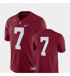 Men Stanford Cardinal 7 Cardinal College Football 2018 Game Jersey