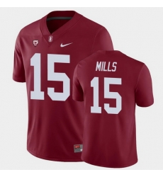 Men Stanford Cardinal Davis Mills College Football Cardinal Game Jersey