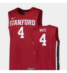 Men Stanford Cardinal Isaac White Red Replica College Basketball Jersey