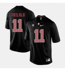 Men Stanford Cardinal Levine Toilolo College Football Black Jersey