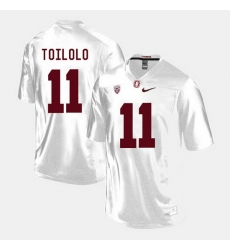 Men Stanford Cardinal Levine Toilolo College Football White Jersey