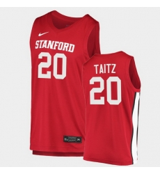 Men Stanford Cardinal Noah Taitz College Basketball Red 2020 21 Jersey