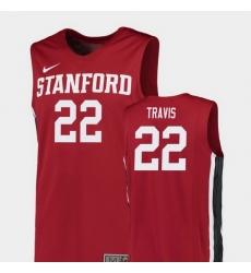 Men Stanford Cardinal Reid Travis Red Replica College Basketball Jersey