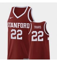 Men Stanford Cardinal Reid Travis Wine Replica College Basketball Jersey