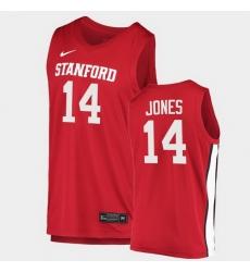 Men Stanford Cardinal Spencer Jones College Basketball Red 2020 21 Jersey