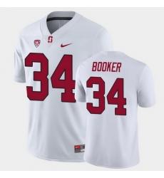 Men Stanford Cardinal Thomas Booker Game White College Football Jersey