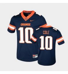 Men Syracuse Orange Adrian Cole College Football Game Navy Jersey