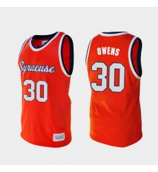 Men Syracuse Orange Billy Owens Alumni Orange College Baketball Jersey