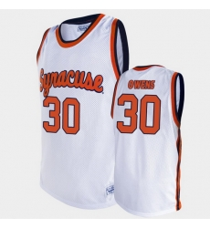 Men Syracuse Orange Billy Owens Alumni White Basketball Jersey