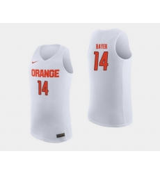 Men Syracuse Orange Braedon Bayer White College Basketball Jersey