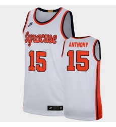 Men Syracuse Orange Carmelo Anthony Retro Limited White Ncaa Basketball Jersey