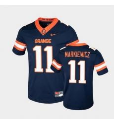 Men Syracuse Orange Dillon Markiewicz College Football Game Navy Jersey