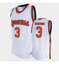 Men Syracuse Orange Dion Waiters Alumni White College Basketball Jersey