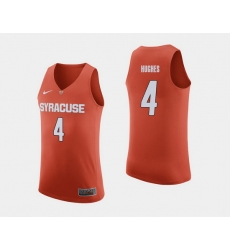 Men Syracuse Orange Elijah Hughes Orange College Basketball Jersey