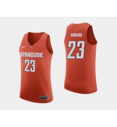 Men Syracuse Orange Frank Howard Orange College Basketball Jersey
