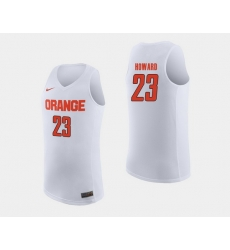 Men Syracuse Orange Frank Howard White College Basketball Jersey