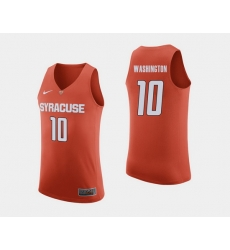 Men Syracuse Orange Howard Washington Orange College Basketball Jersey