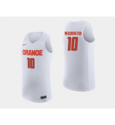 Men Syracuse Orange Howard Washington White College Basketball Jersey