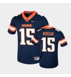 Men Syracuse Orange Jacobian Morgan College Football Game Navy Jersey