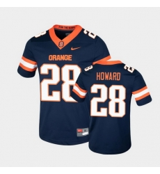 Men Syracuse Orange Jarveon Howard College Football Game Navy Jersey