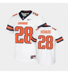 Men Syracuse Orange Jarveon Howard Untouchable Game White Jersey