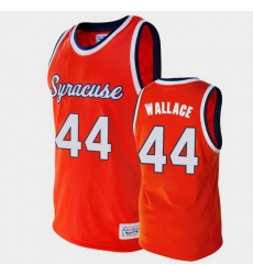 Men Syracuse Orange John Wallace Alumni Orange College Baketball Jersey