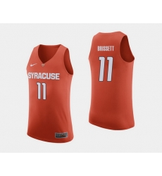 Men Syracuse Orange Oshae Brissett Orange College Basketball Jersey