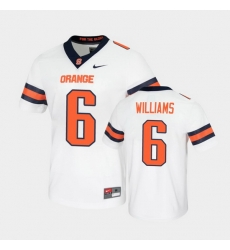 Men Syracuse Orange Trill Williams Untouchable Game White Jersey