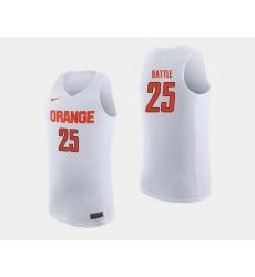 Men Syracuse Orange Tyus Battle White College Basketball Jersey