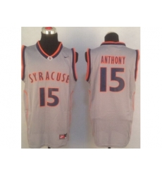 NBA Jersey Nyx NCAA Syracuse 15# Carmelo Anthony Grey Jerseys