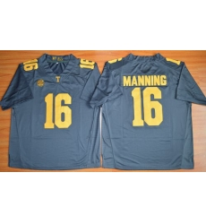 Tennessee Vols #16 Peyton Manning Grey 2015 Stitched NCAA Jersey