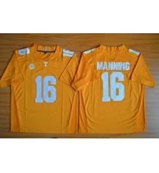 Tennessee Vols #16 Peyton Manning Orange Stitched NCAA Jersey