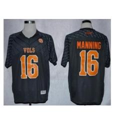 Tennessee Volunteers 16 Peyton Manning Grey Techfit NCAA Jersey