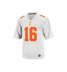 Tennessee Volunteers 16 Peyton Manning White College Football Techfit NCAA Jersey