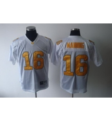 Vols #16 Peyton Manning White Embroidered NCAA Jersey