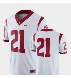 Men Usc Trojans 21 White College Football 2018 Game Jersey