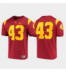 Men Usc Trojans 43 Cardinal Game Jersey