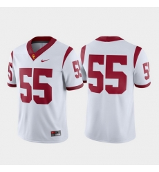 Men Usc Trojans 55 White Game College Football Jersey