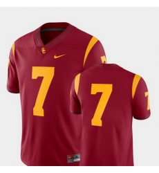 Men Usc Trojans 7 Cardinal College Football 2018 Game Jersey