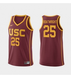 Men Usc Trojans Bennie Boatwright Cardinal Replica College Basketball Jersey